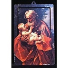 St. Joseph and Child - 3D Wood Lazar Cut Plaque