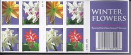 WINTER FLOWERS First Class  (USPS)  FOREVER STAMPS 20 - $13.95