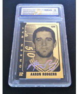 AARON RODGERS AUTOGRAPHED GEMMT 10 LIMITED EDITION 2008 23KT GOLD CARD! ... - $19.99