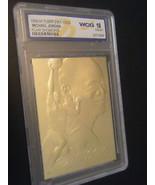 MICHAEL JORDAN FLEER FLAIR SHOWCASE LIMITED EDITION WCG GEMMT 10 23KT GO... - $12.99