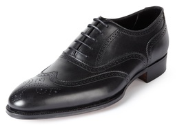 HANDMADE FULL ENGLISH OXFORD BROGUE LEATHER SHOES, MENS DRESS LEATHER SHOES - $149.99