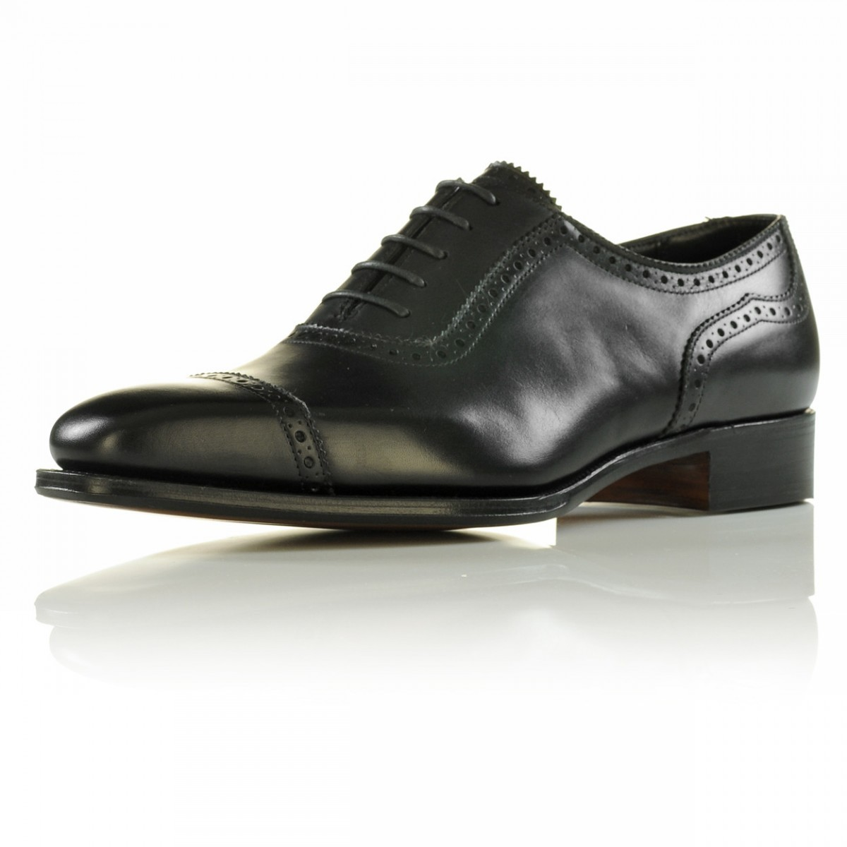 HANDMADE OXFORD BROGUE STYLE SHOES MEN DRESS SHOES BLACK FASHION LEATHER SHOES - Dress/Formal
