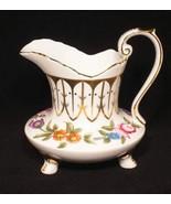 """Royal Danube Porcelain Pitcher Vintage 6"""" Floral w/ Gold Gilding - $32.72"""