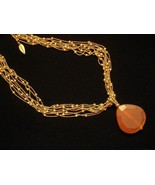 Necklace Tumbled Genuine Agate Pendant Coldwater Creek Eight Strands New... - $37.72