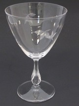 bryce Goblet glass Autumn pattern Hand cut  Crystal  Made in USA Mt Plea... - $17.60