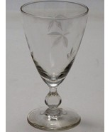 Bryce Wine glass Autumn pattern Hand cut  Crystal  Made in USA Mt Pleasa... - $17.60