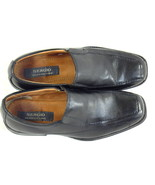 Sergio Classic Line Black Leather Loafer Shoes Size 7.5 D US Near Mint E... - $18.69