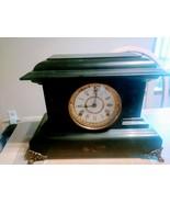 Antique Wood Mantel Clock 1895 Seth Thomas (ST) on dial (2 photos added) - $97.01