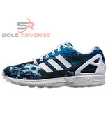 New 9 adidas Originals Mens ZX Flux Shoes OCEAN WAVE Shoes Blue M19846 Photo