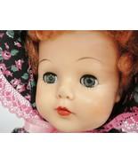 "Estrela 24"" Doll Red Hair Green Sleep Eyes Vinyl Head Hard Plastic Body ... - $98.99"
