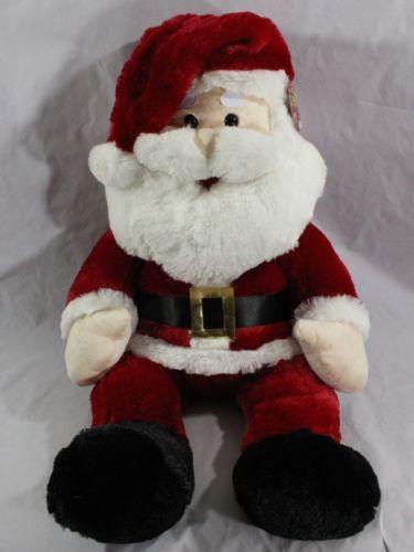 30 jumbo plush santa claus soft stuffed saint nick holiday christmas - Stuffed Santa Claus