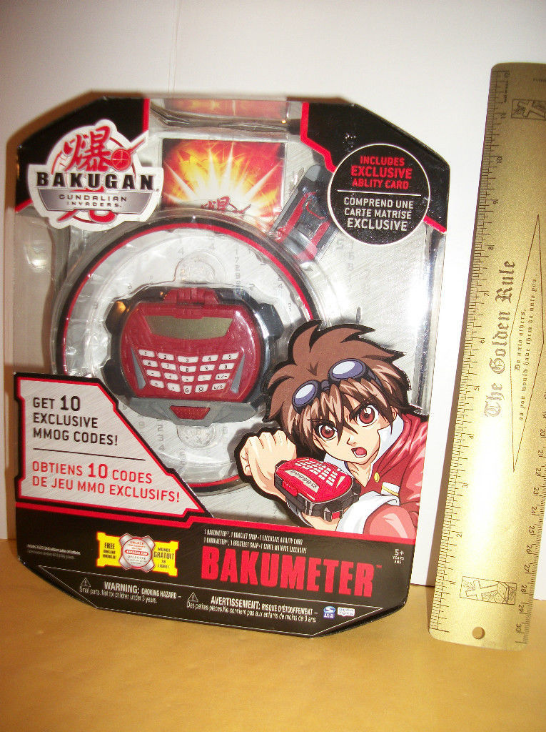 Bakugan Secret Agent Toy Gundalian Invader Bakumeter New Exclusive Ability Card