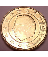 Unc Belgium 2000 20 Euro cents~Minted In Brussels~New Millenium~Free Shipping* - $3.03