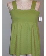 Style & Co Smock Avocado Green Cotton Size XL NWT - $22.00