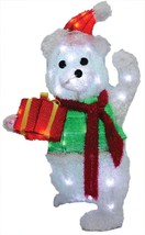 TEDDY BEAR TAKES GIFT BOX CHRISTMAS PROP Village Contest Show Decor Holi... - €44,96 EUR
