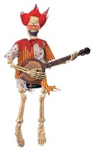 ANIMATED SKELETON CLOWN PLAYING BANJO 39 INCHES HAUNTED HOUSE HALLOWEEN ... - €61,74 EUR