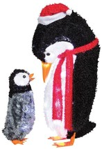 GEMMY FUZZY PLUSH MOMMY AND BABY PEN CHRISTMAS DECOR Village Contest Sho... - £51.75 GBP