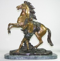 Marly Horse With Boy Solid American Bronzes Statue Sculpture by G. Coustou - $2,996.00