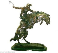 Bronco Buster Fine American Bronze Collectible Statue by F. Remington Me... - $325.00