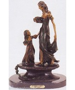 """Mother and Child""Solid American Bronze Statue Sculpture Inspired by Lou... - $995.00"