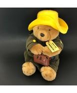 Paddington Bear Harrods London Plush Stuffed Yellow Hat Suitcase Darkest... - $210.00
