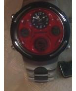 Estate Men's Quartz Watch - Quemex Brand Silver Tone and Black Band - St... - $39.00