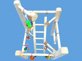 DELUX CAGE TOP PLAY GYM-WITH LADDER,TOYS,SWING - £20.09 GBP