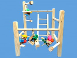 Parrot cage top play gym-toys,ladder,swing. For amazons,greys,mini macaws!! - £38.65 GBP