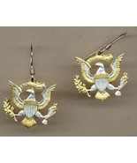 "Kennedy ½ Dollar ""Eagle no rim"" Coin Earrings, Gold/Silver - $112.11+"