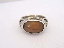 Vintage Native American Sterling Silver Cabochon Ring Size 8.5 - $65.00