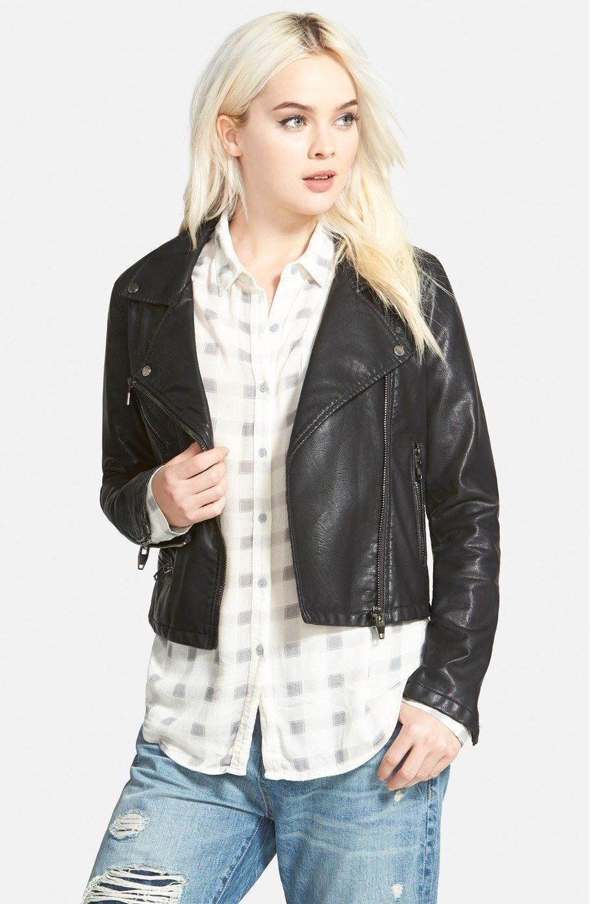 WOMEN BIKER MOTORCYCLE CASUAL SLIM FIT RIDER REAL GENUINE  LEATHER JACKET-A78