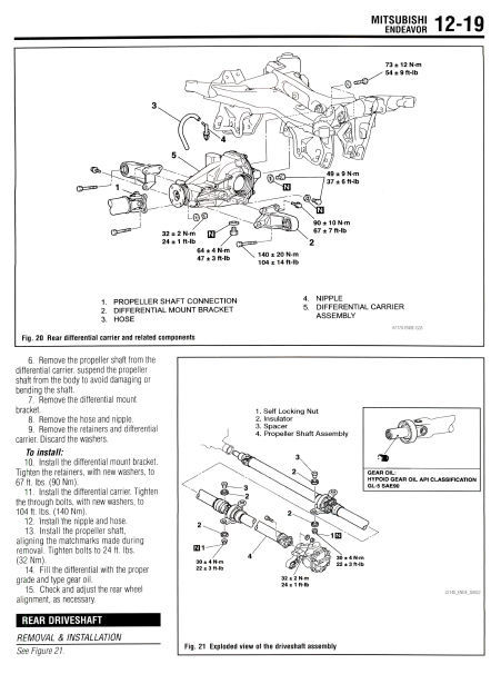 MITSUBISHI ENDEAVOR 2004 2005 2006 2007 2008 2009 2010 FACTORY SERVICE MANUAL