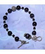 Sterling Silver Blue Goldstone Bracelet - $30.00
