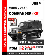 JEEP COMMANDER 2006 - 2010 FACTORY OEM SERVICE REPAIR WORKSHOP SHOP FSM ... - $14.95