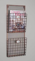 Hanging Magazine Wire Wall File Rack Holder Pocket Vintage Organizer Sto... - $45.49