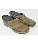 Clarks Size 7.5 Brown Leather Artisan Collection Slide On Slides Comfort... - $15.19