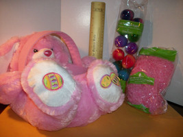 DanDee Easter Basket Kit Dan Dee Stuffed Animal Bunny Container Pink Tye Dye Egg - $18.99