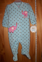 Carter Baby Clothes 3M-6M Child of Mine Playsuit Blue Elephant Footy Bodysuit - $12.34