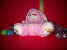 Dan Dee Easter Basket Kit Light Pink Plush DanDee Bunny Rabbit Tote Grass Eggs - $18.99