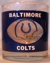 HouzeArt See Thru Football Glass Baltimore Colts - $10.00