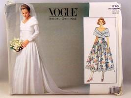 Vogue Pattern 2768 plus size 18-22 wedding dress - $12.86