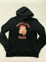 Justice 14 Black Hamster Santas Little Helper Hoodie Sweatshirt Christmas - $9.99