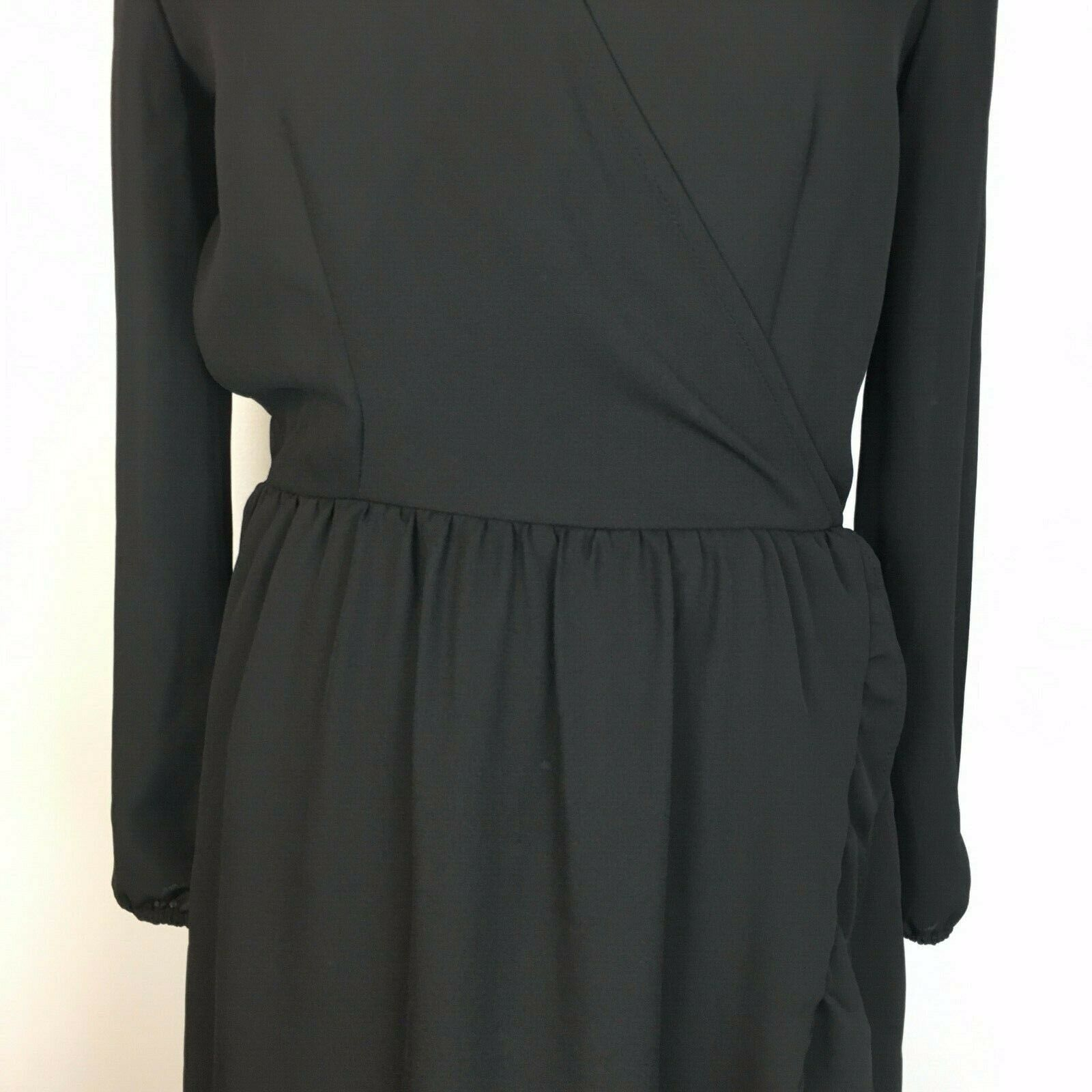 Old Navy Women's Classic Black Ruffled V-Neck Longsleeve Dress Size XS