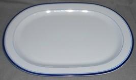 Crate & Barrel BRASSERIE PATTERN Oval Serving Platter MADE IN PORTUGAL - $98.99