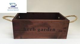 Nutley's Grande boîte en chêne fabriquée à la main Bushel herbes aromati... - $53.25