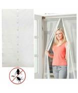 White Hands-Free Mesh Screen Door Magnetic Anti-Mosquito/Bug Curtain  - $12.86