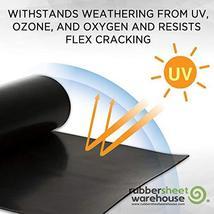 "Neoprene Rubber Sheet, Rolls, Strips 3/32"" .093"" Thick x 12"" Wide x 36"" Long Sol image 3"