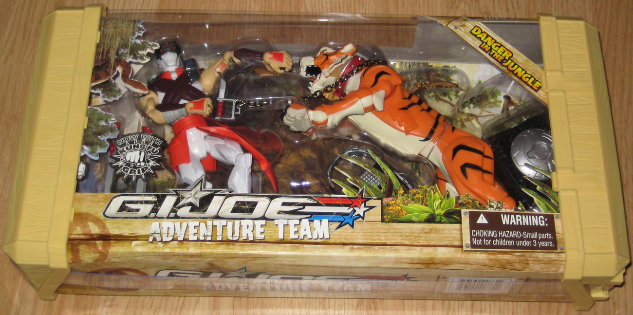 * G.I. Joe Adventure Team 2007 DANGER IN THE JUNGLE w/ Kung Fu Grip!