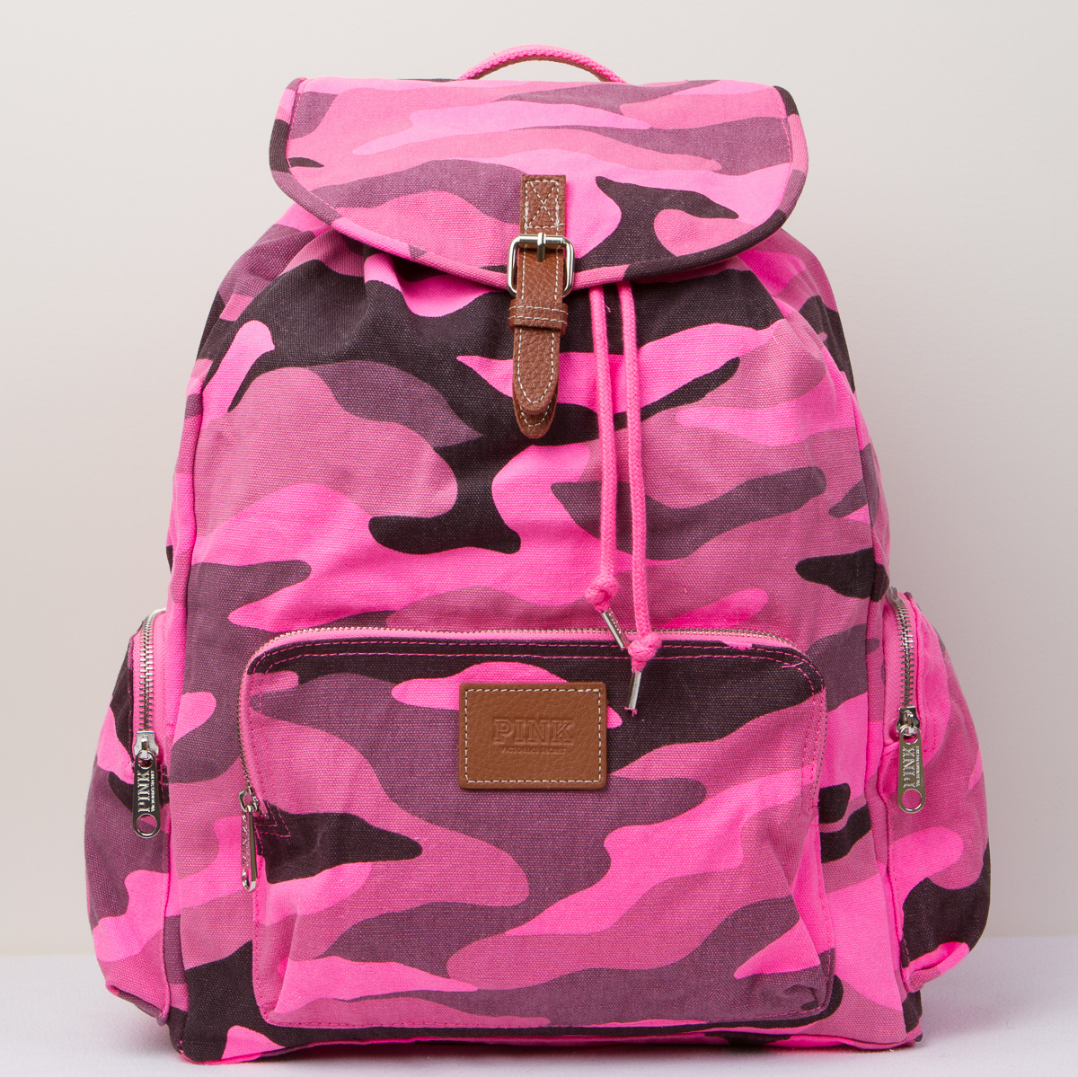 Victoria's Secret PINK Pink Camo Large Backpack Travel Book Bag