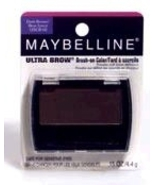 Maybelline Ultra Brow Dark Brown Brush On Powder Eyebrow Color New in Package - $14.00